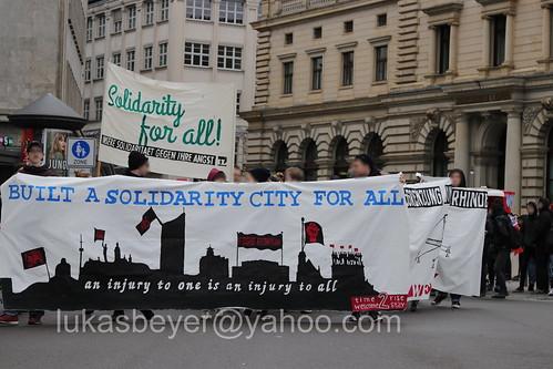 Antifademo gegen den Neonaziaufmarsch