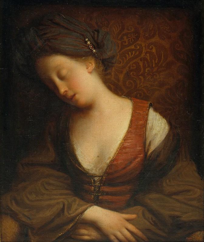 Jean-Baptiste Santerre - Young woman sleeping