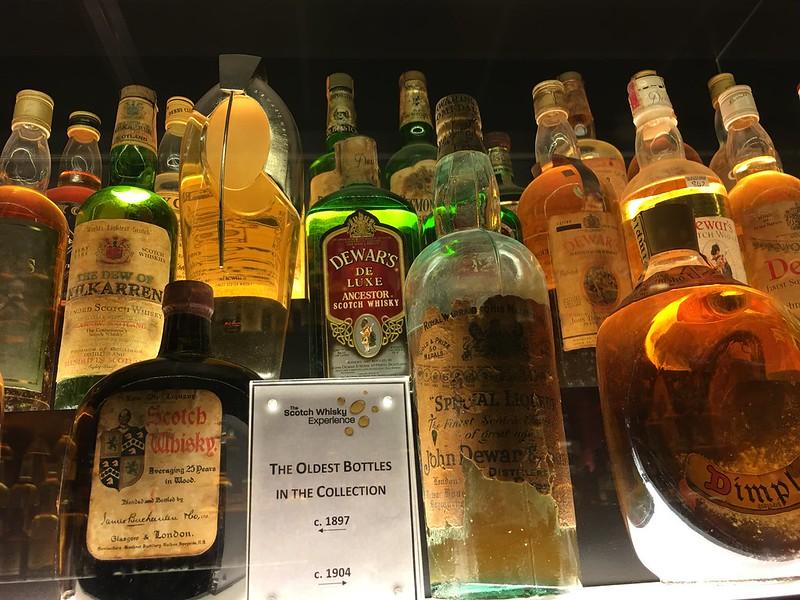 Edinburgh 113 oldest whisky bottle