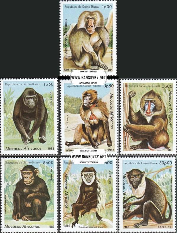 Známky Rovníková Guinea 1983 Opice, nerazítkovaná séria