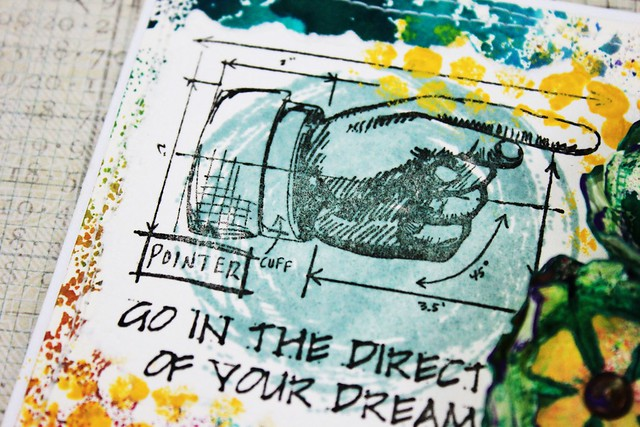 Meihsia Liu Simply Paper Crafts Mixed Media Card Dare to Dream Simon Says Stamp Tim Holtz 3