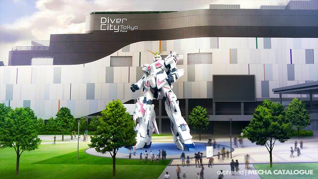 1/1 Unicorn Gundam & The Gundam Base Tokyo - Autumn 2017