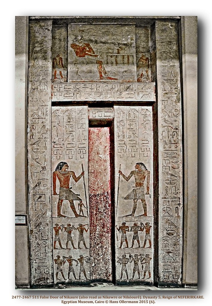 ... 2477 2467 511 False Door Of Nikaure (also Read As Nikewre Or Nikéourê)