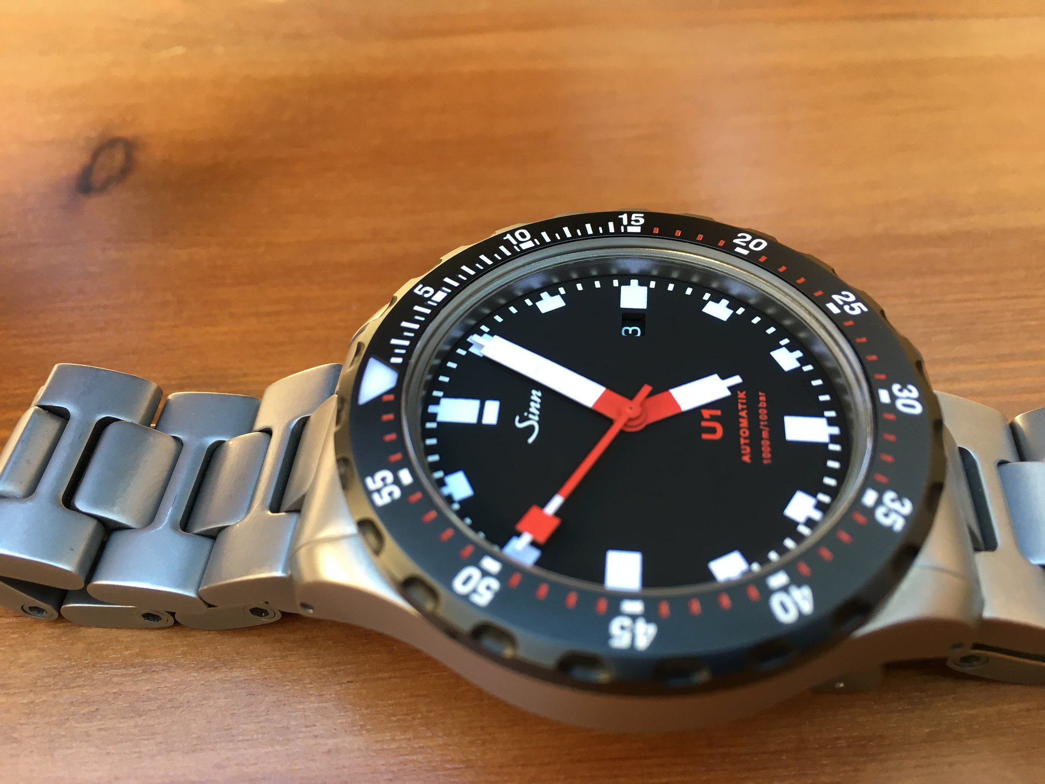 wts sinn u1 sdr on bracelet ref. Black Bedroom Furniture Sets. Home Design Ideas