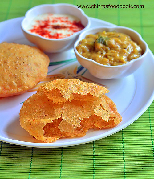 stuffed paneer poori recipe