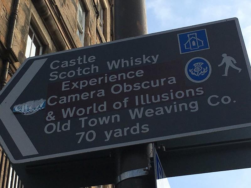 edinburgh 053 Scotch Whisky arrow