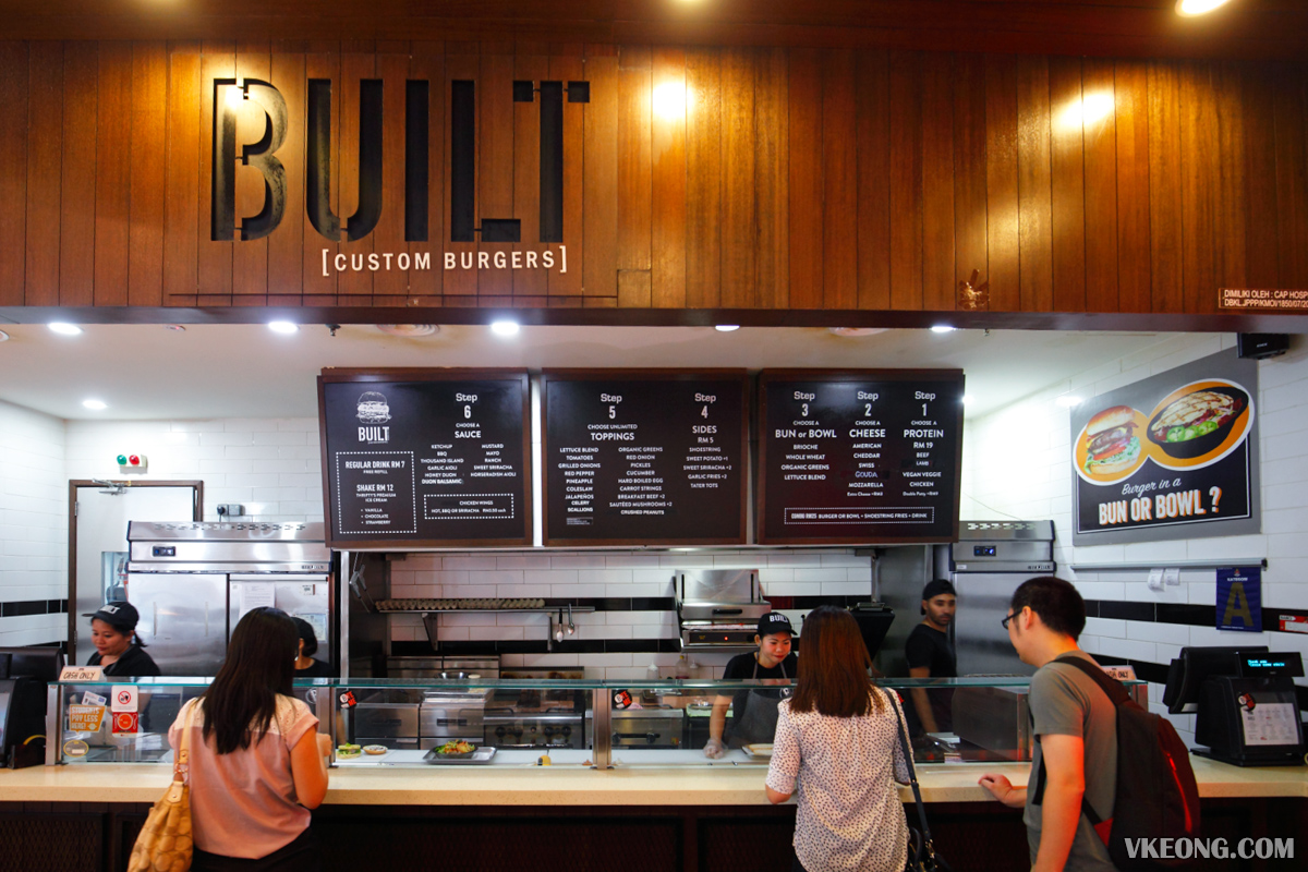 Built Custom Burger by The Counter Nu Sentral