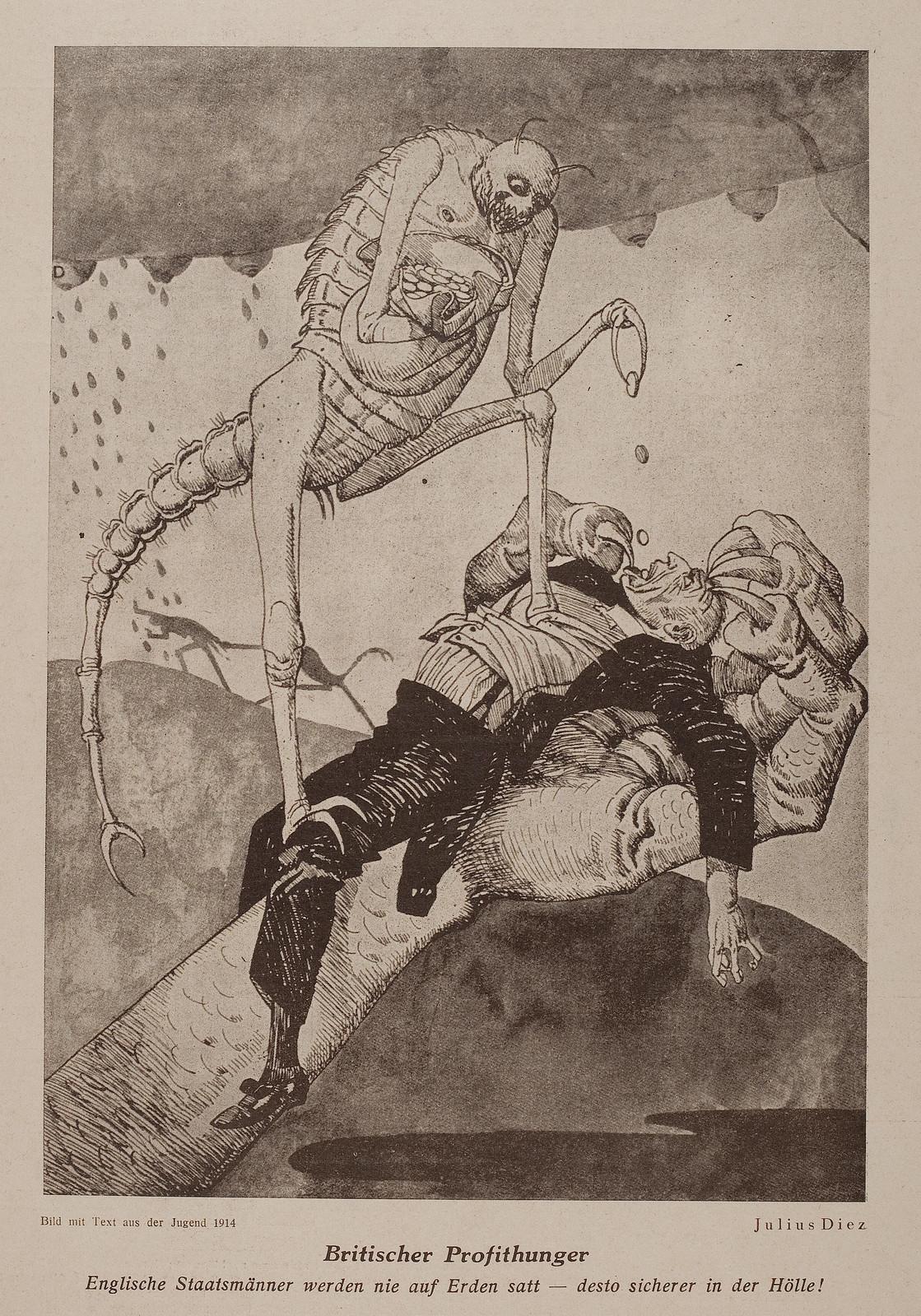 Julius Diez - British Profithunger, 1914