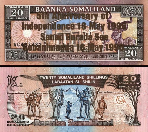 20 Šilingov Somaliland 1996, P10