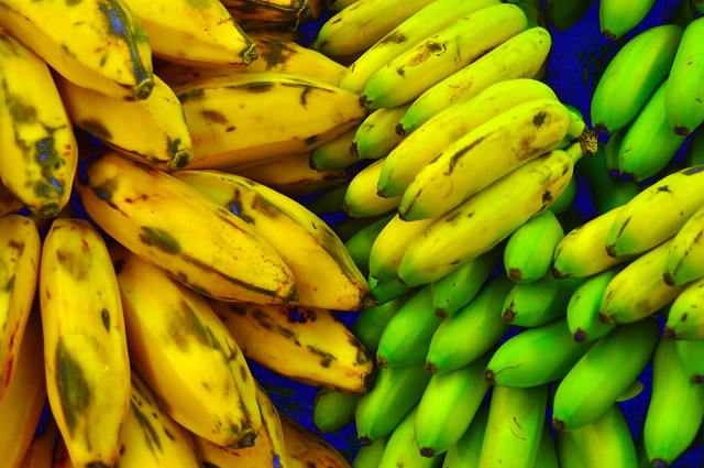 Plantains, bananas