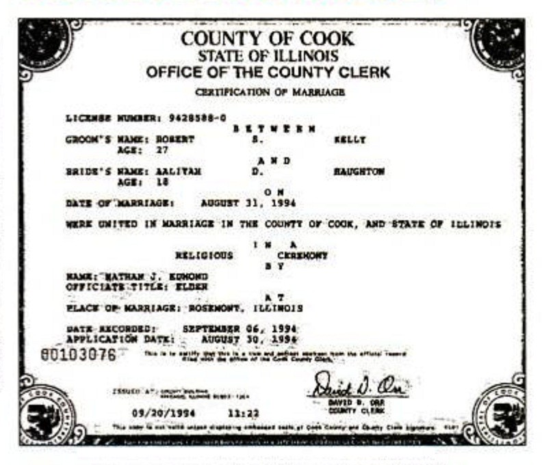 Aaliyah Marriage Cert  Wbezfile Kelly And Haughtons Marri  Flickr-6335