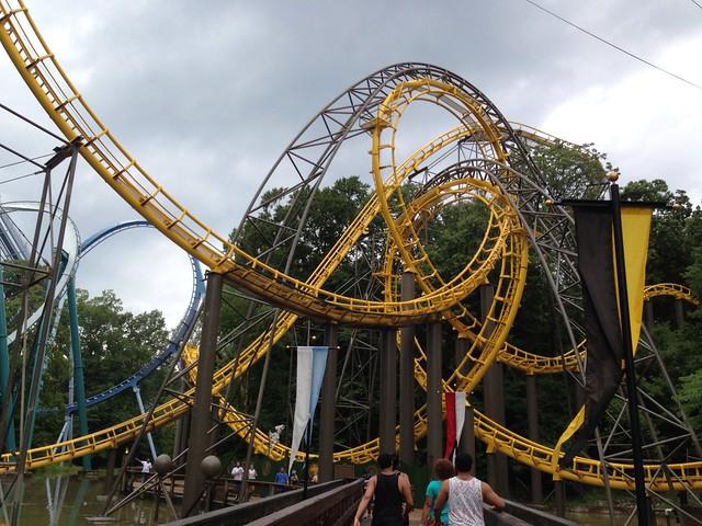 Loch Ness Monster Roller Coaster Interlocking Loops Flickr Photo Sharing