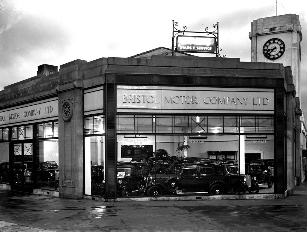 bristol motor company winterstoke road car showroom  ash flickr