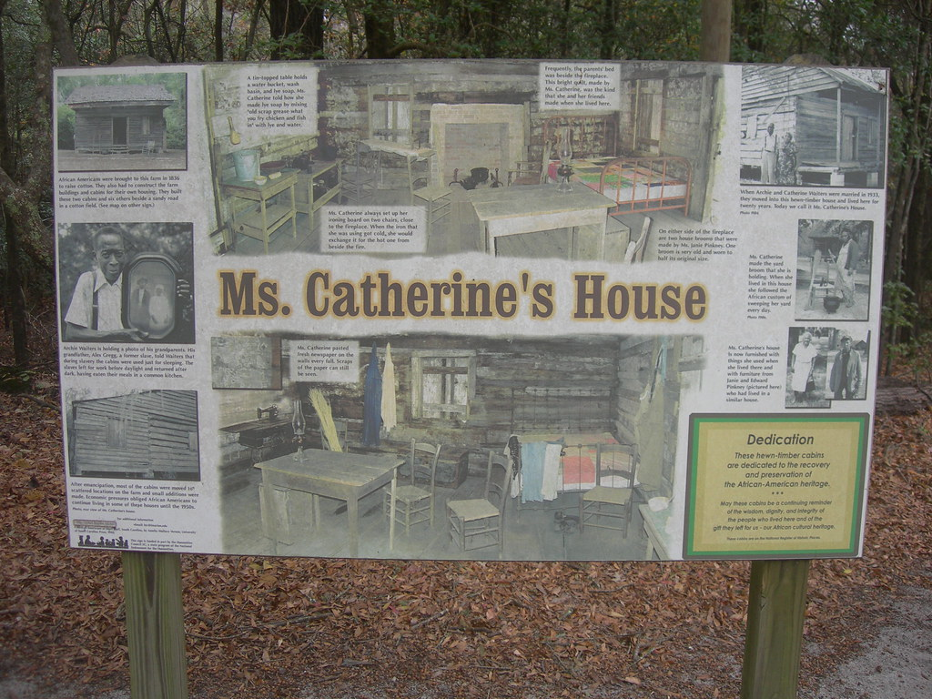 Ms catherine 39 s house sign constructed by slaves in the for Catherines house