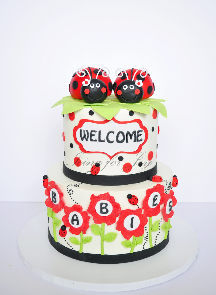 ... Ladybug Baby Shower Cake For Twins | By Icing For Joy