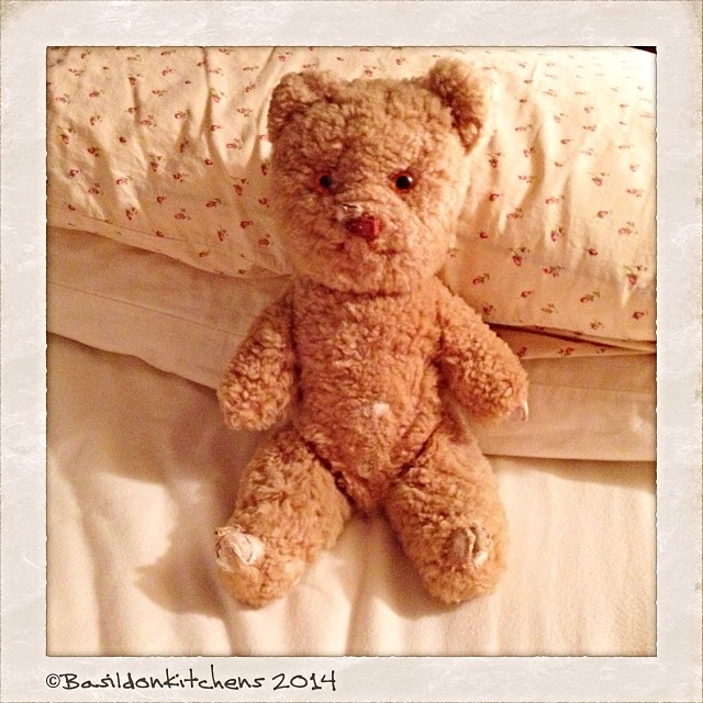 4/2/2014 - childhood {my teddy who has been much loved!} #fmsphotoaday #childhood #teddy