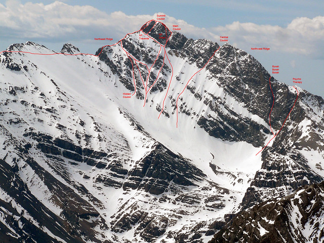 North Face Mount Borah Routes