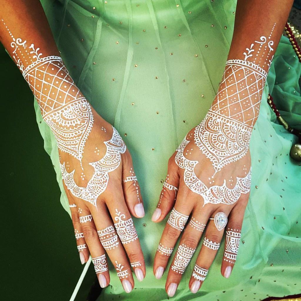 White Henna Bridal Design Henna Whitehenna Bridalhenna Flickr