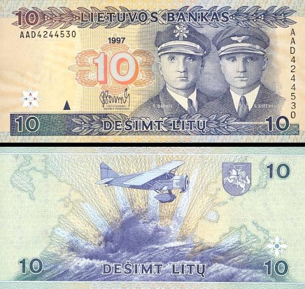 10 Litu Litva 19697, P59