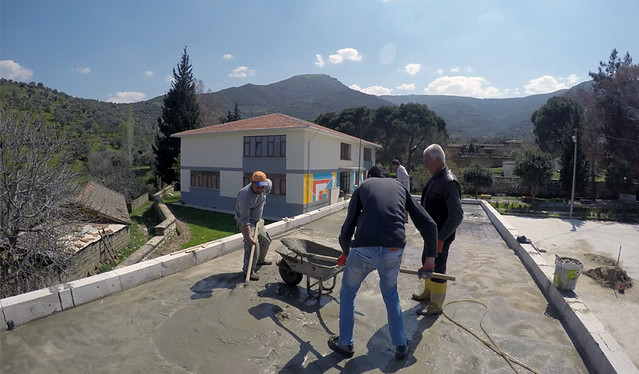 The Construction Team at Work in Ovakent, İzmir