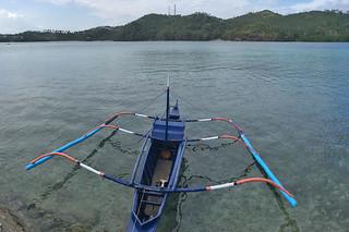 Sibale island - Poblacion boat