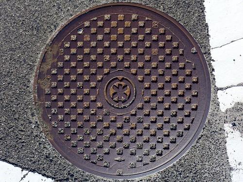 Shimane town Shimane pref, manhole cover (島根県島根町のマンホール)