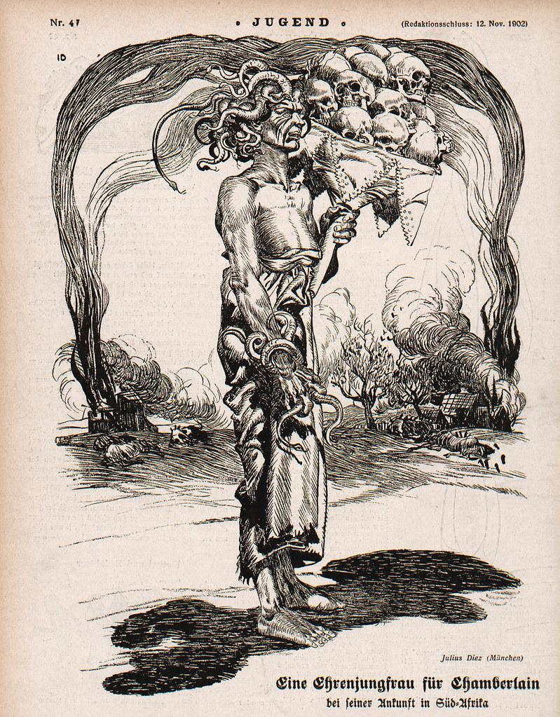 Julius Diez - Christening For Chamberlain, 1902
