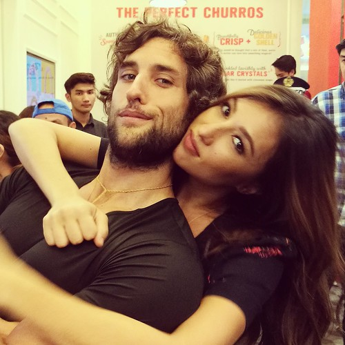 DavaoFoodTrips.com | Solenn Heussaff & Nico Bolzico store owners - Hola Amigos & Amigas... La Lola Churreria Opens at SM Lanang Premier!