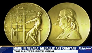Medallic art video clip4 Pulitzer Prize medal