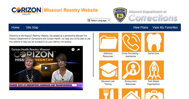 Corizon Health launches new and improved Missouri reentry website