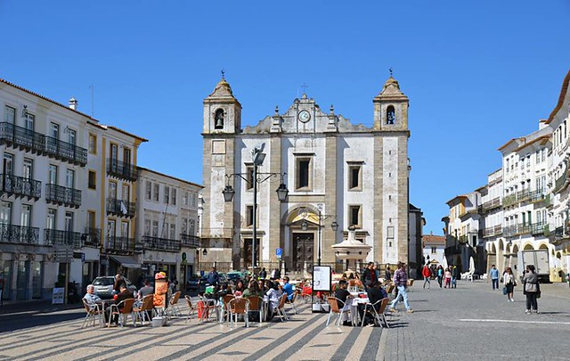 Main square, Evora, Portugal