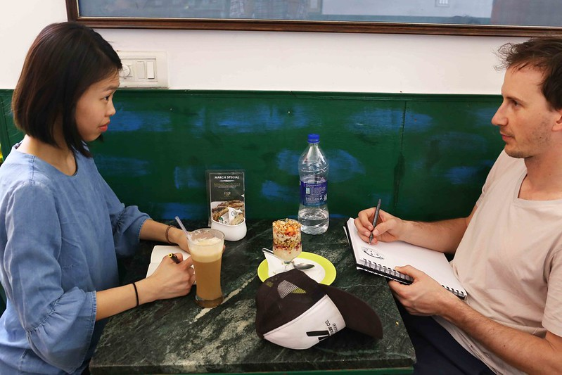 City Moment - He & She & Their Short Illustrated Story, Khan Market's Café Turtle