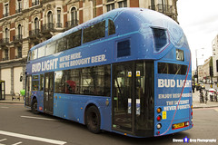 Wrightbus NRM NBFL - LTZ 1606 - LT606 - Bud Light - Waterloo 211 - Abellio London - London 2017 - Steven Gray - IMG_9199