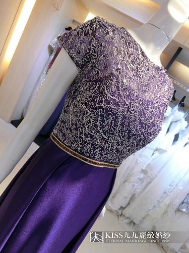 婚禮媽媽裝找高雄Kiss99就對了,變身婚禮最耀眼女配角的最佳幕後推手(19)緞面紫