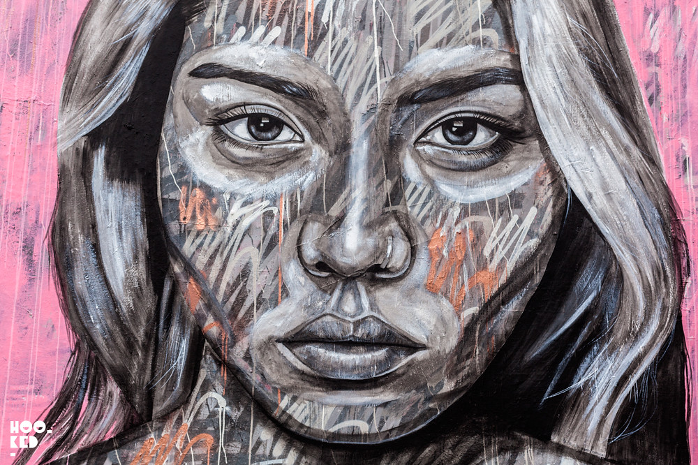 Bien connu Impressive Fashion Portrait Murals of Models by Street Artist  RE97