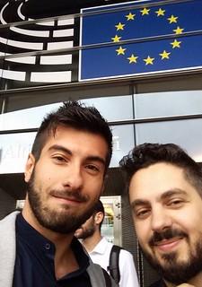 Fabio Rella e il segretario Bizzoco nel 2015 a Bruxelles