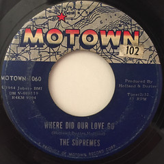 THE SUPREMES:WHERE DID OUR LOVE GO(LABEL SIDE-A)