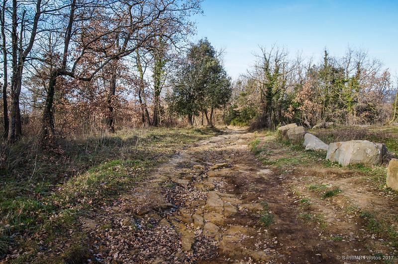 Inicio del camino a La Foradada de Cantonigròs