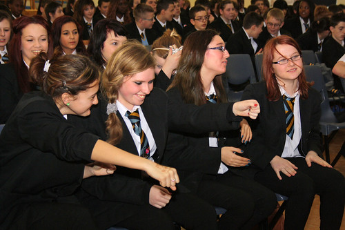 Pupils enjoying The Reading Skills Show