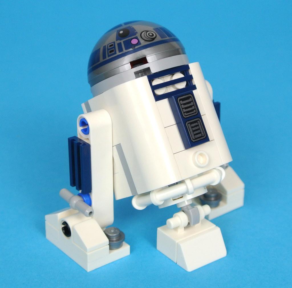 LEGO Star Wars Minifigure R2-D2 grey dome