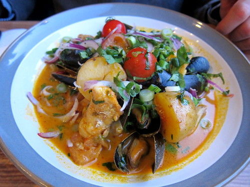 brazilian seafood stew, coconut milk