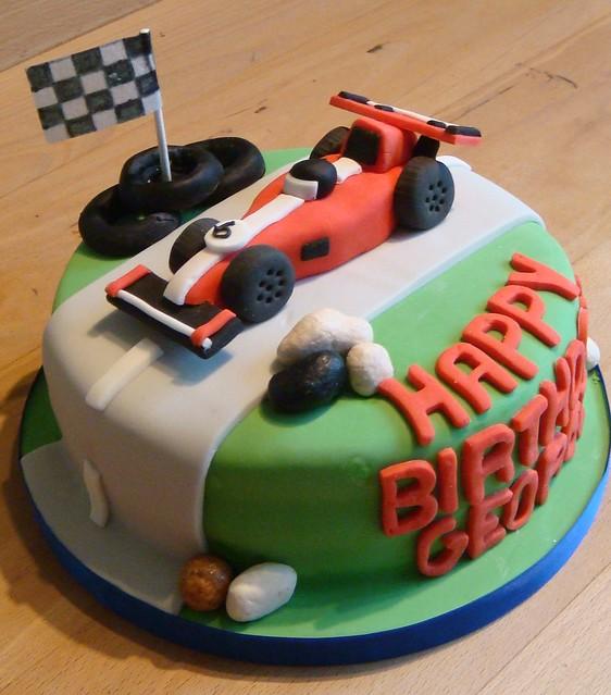 Happy Birthday Race Car Cake