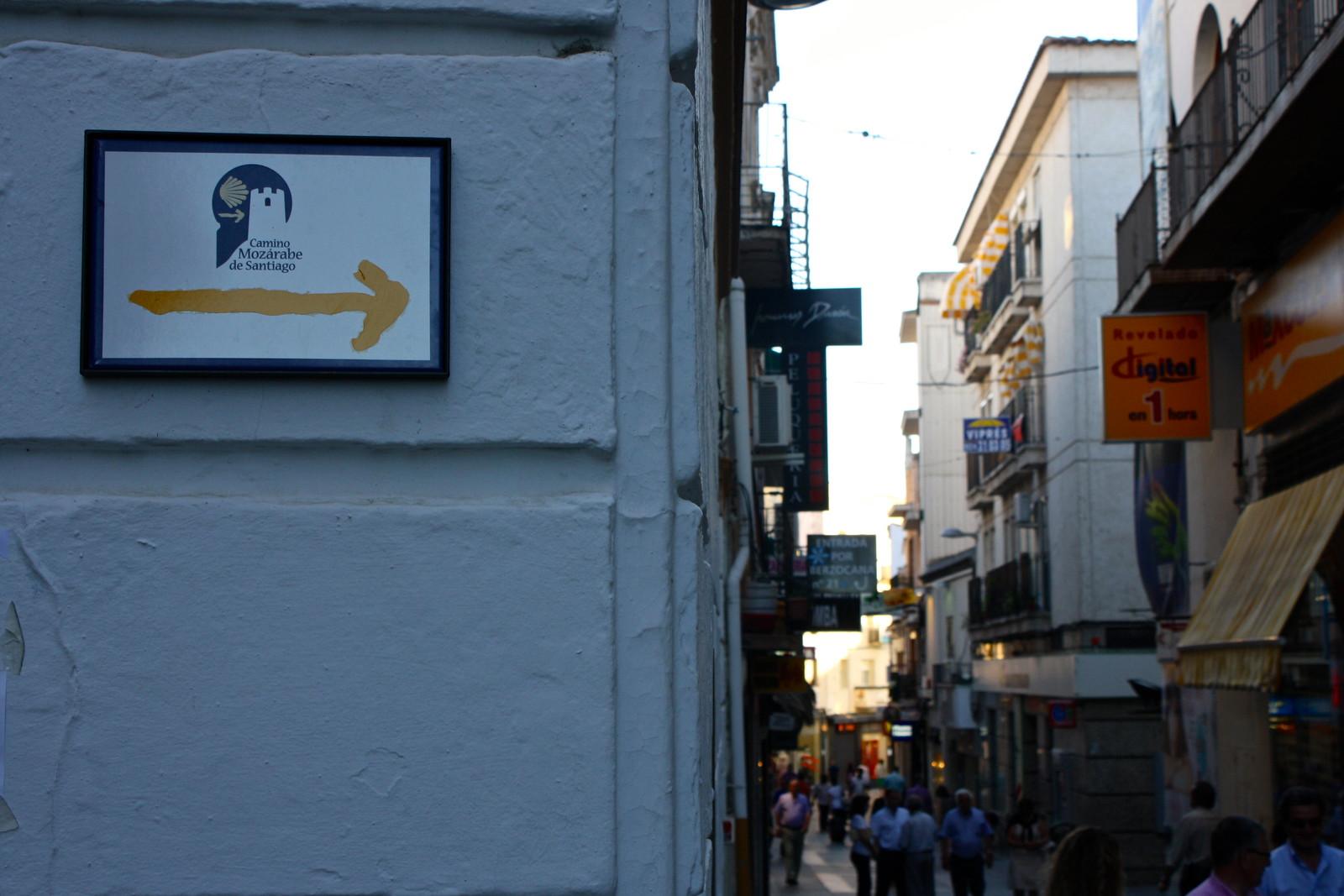 Camino de Santiago in Mérida, Spain