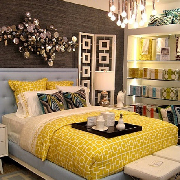 Atlanta Living Yellow Bed Bedroom Bedding Turquoise Flickr