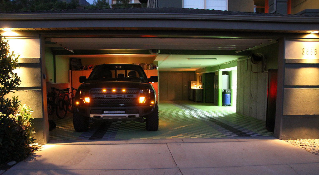 Racedeck garage flooring green night shot great new for Great garage floors