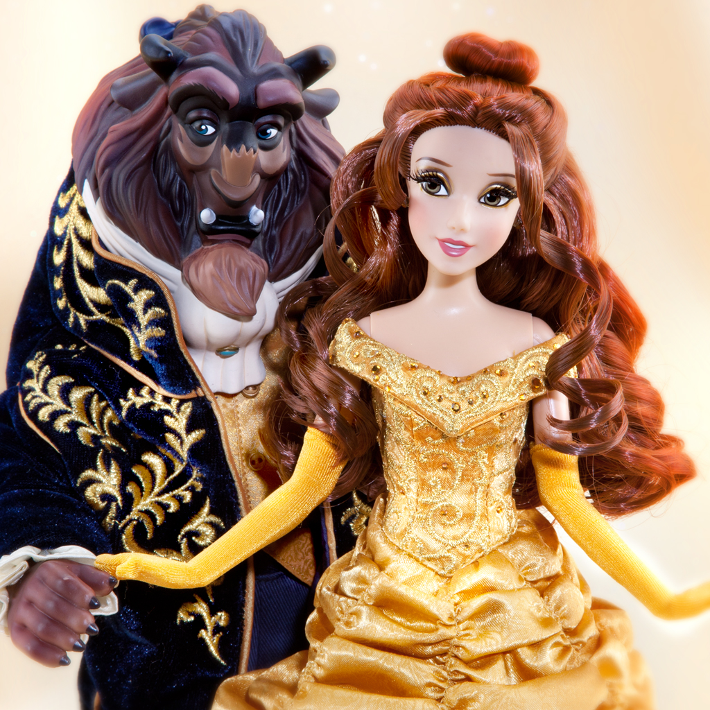 Disney Fairytale Designer Collection Belle And Beast Dolls
