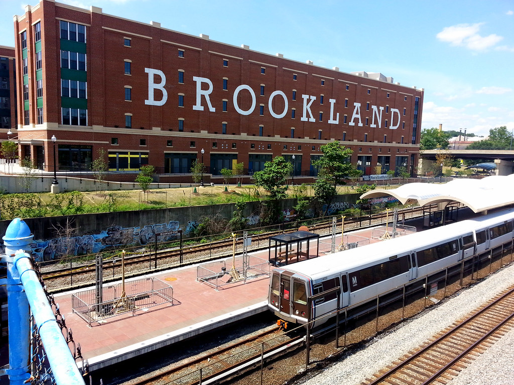 Brookland Sign And Metro Station Beyonddc Flickr
