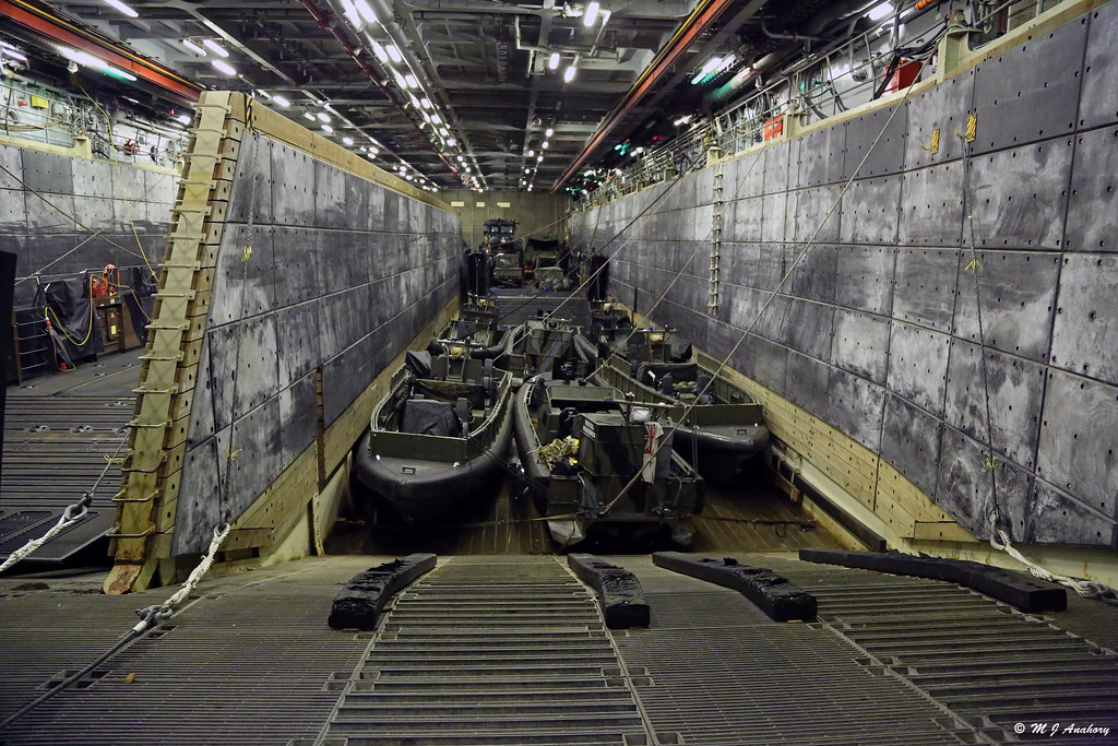 Royal Navy's HMS Bulwark (L15) - Landing Craft Compartment ...