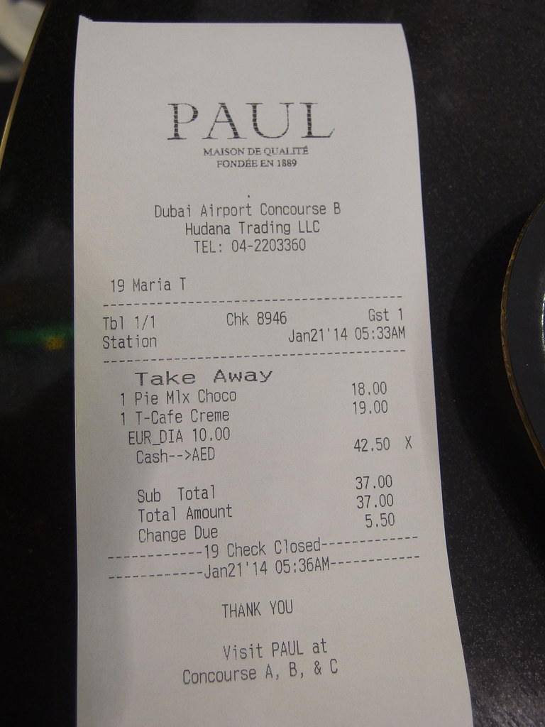 Food Prices Dubai Airport