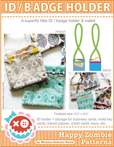 ID /Badge Holder PDF sewing pattern | by Happy Zombie